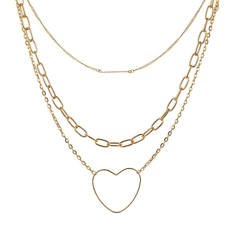 VKME модное жемчужное ожерелье с двойным слоем Love аксессуары Женское Ожерелье Bijoux подарки - Окраска металла: ZL0000936