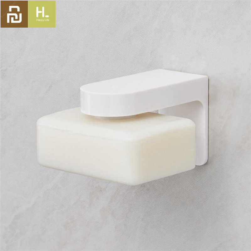 Steel Adhesive Wall-Mounted Magnetic Soap Holder Sponge Container Storage Rack