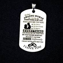 12Pcs Dad Mom to My Son Daughter I Want You to Believe Stainless Steel Pendants M2EB(China)