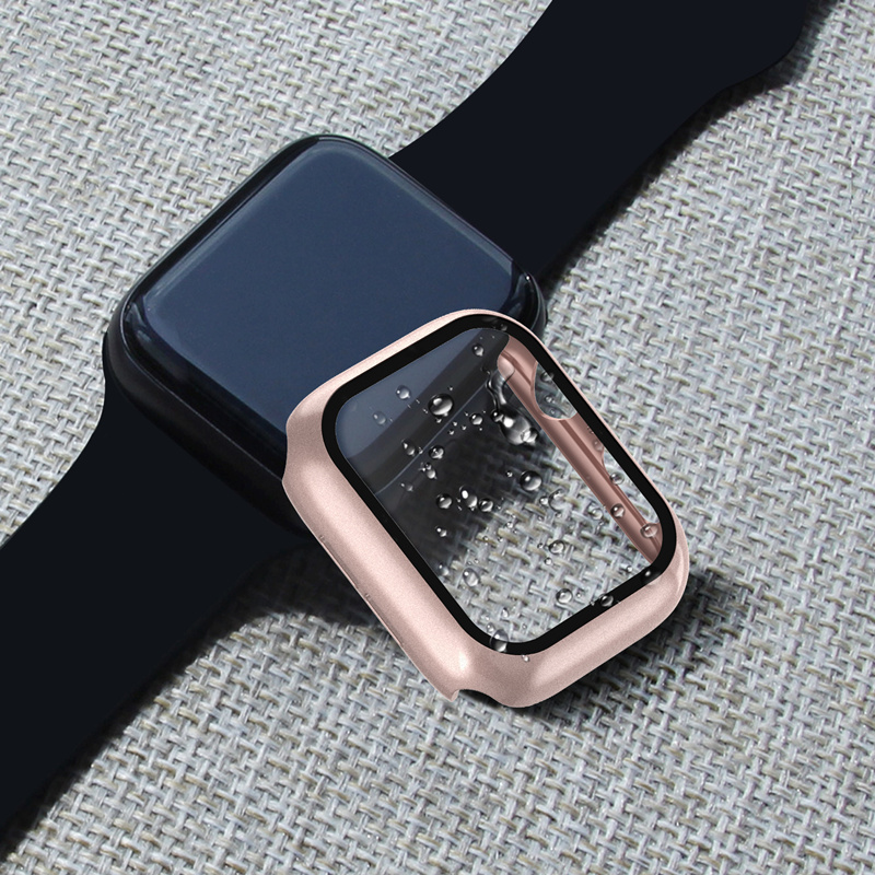 Protector Cover For Apple Watch 5 4 case 44mm 40mm iWatch 3 2 42mm 38mm Bright bumper+Screen Apple watch Accessories