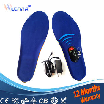 NEW winter warm insole heated battery heating insoles With Wireless for men and women keep foot warm Increased by 1.5CM