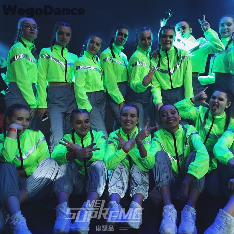 Women Groups Ds Costumes Sexy New Female Hip-hop Performances Reflective Clothing Jazz Dance Clothes Costume Suit