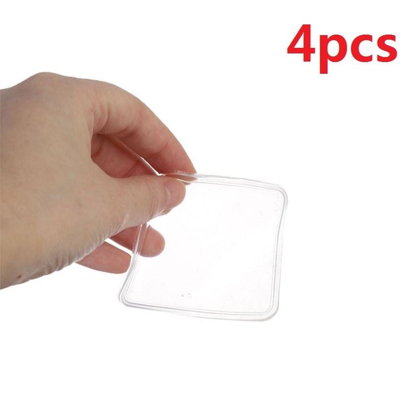 4PCS/Set Super Sticky Silica Gel Transparent Washing Machine Silicone Pad Portable Anti Vibration Non-Slip Mat
