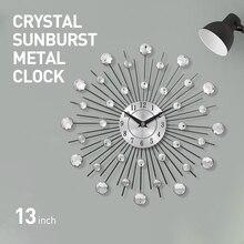 Wall-Clock Home-Decor Morden-Design Vintage Luxury Parete Wandklok Orologio Metal Large