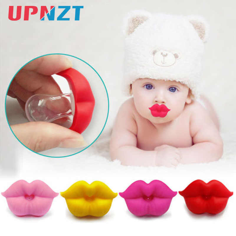 1PC Baby Pacifier Infant Kiss Lip Dummy Pacifier Unisex Funny Silicone Baby Nipple Teether Soother  Newborn Baby Dental Care