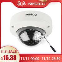 MISECU 2.8mm anti-vandalisme 1080P 960P 720P H.265/H.264 48V POE caméra dôme en métal Onvif P2P mouvement détecter RTSP Email alerte CCTV
