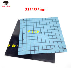 3d imprimante magnétique impression lit bande 235*235mm carré heat Bed autocollant construire plaque bande Surface Flex plaque pour Ender-3 Ender-3X