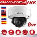 8MP POE IP Kamera DS-2CD2185FWD-IS Outdoor 8 Megapixel Netzwerk Sicherheit Dome Kamera H.265 Eingebaute Audio Interface SD clot