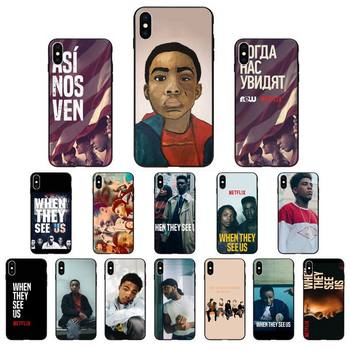 FHNBLJ When They See Us Phone Case for iphone 11 Pro Max X XS MAX 6 6s 7 8 Plus 5 5S 5SE XR SE2020 image