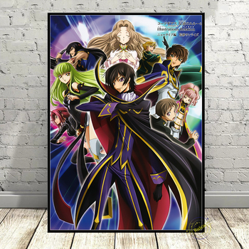 Code Geass Posters Japanese Cartoon Wall Art Canvas Prints High Definition For Living Room Bedroom Home Decoration Painting 2