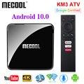 ТВ-приставка MECOOL KM3 A, Android TV, сертификат Google, Android 10, 4 ГБ, 64 ГБ, Android 9,0, KM9 PRO, 4 Гб, 32 ГБ, 2 ГБ, 16 ГБ, Amlogic S905X2, 4K, Wi-Fi