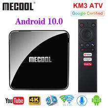 MECOOL KM3 ATV Androidtv Google 인증 TV 박스 안드로이드 10 4GB 64GB 안드로이드 9.0 KM9 PRO 4GB 32GB 2G 16G Amlogic S905X2 4K Wifi