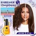 Масло для выпрямления волос Hairesser гладкая шелковистая эссенция для восстановления поврежденных волос сыворотка марокканское масло керати...