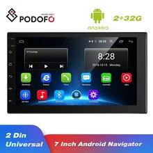 Podofo אנדרואיד 2 דין רכב רדיו מולטימדיה וידאו נגן אוניברסלי אוטומטי סטריאו GPS מפת 2G + 32G Autoradio תמיכה אחורית מצלמה