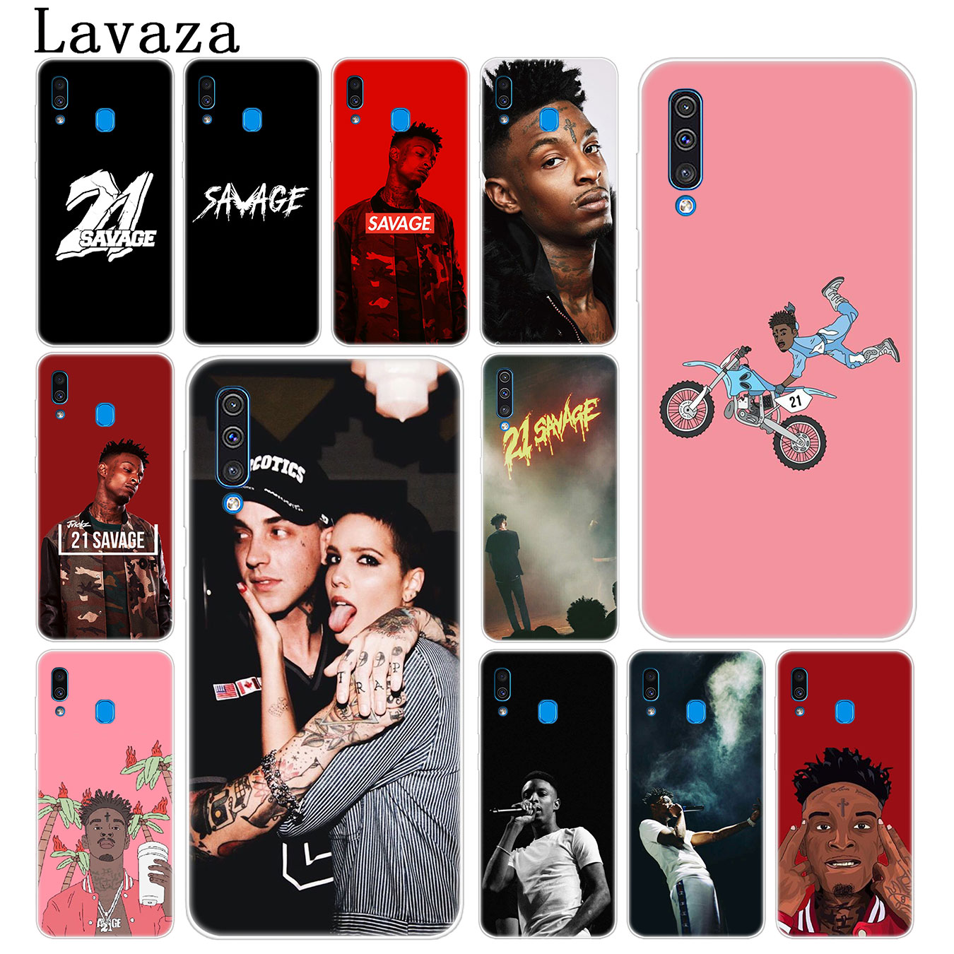 Lavaza pop <font><b>21</b></font> <font><b>Savage</b></font> Hard Phone Cover Case for Samsung Galaxy A70 A60 A50 A40 A30 A20 A10 M10 M20 M30 M40 A20e Cover image