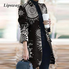 Jackets Coats Cardigan-Tops Oversized Chic Vintage Elegant Long Casual Women Lady Office