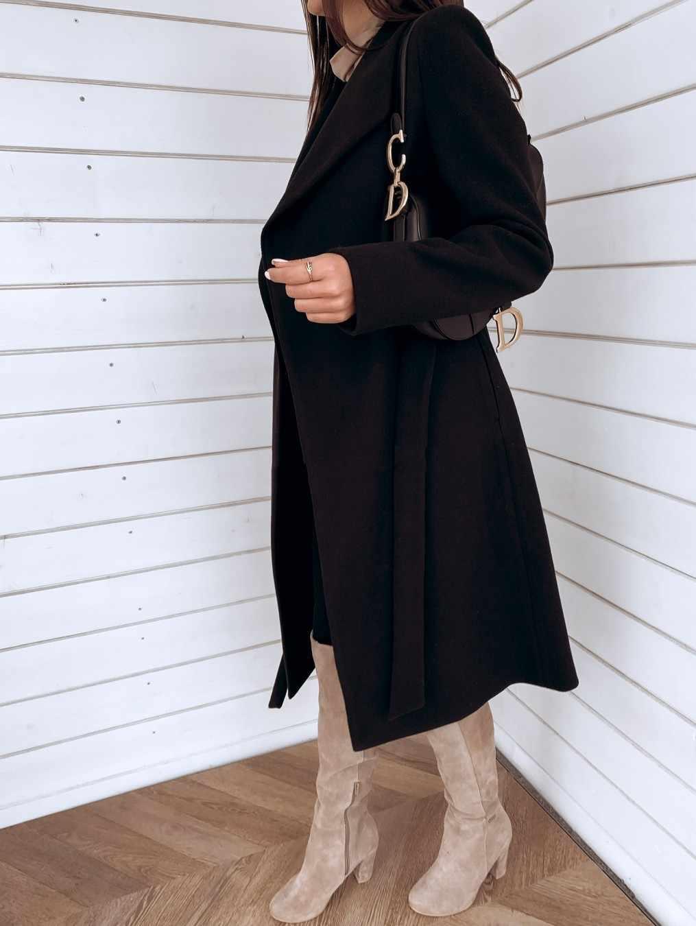 Women Long Sleeve Jacket Coat Hairy Open Elegant Front Short Korean Cardigan Suit Jacket Silm Solid Long Coat Jacket #112