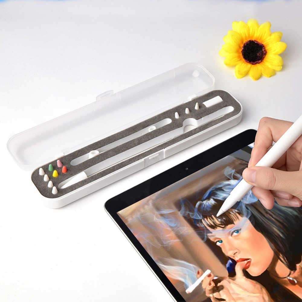 Casptm à prova de choque portátil claro viagem caso de transporte titular para ipad lápis caixa protetora para apple lápis 1 2 acessórios