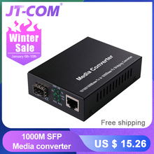 Gigabit SFP Fiber to RJ45 Optical Media Converter