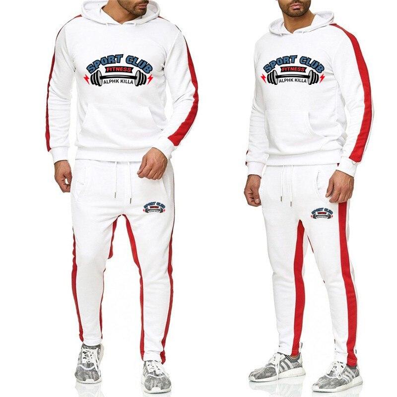 2019 YUANHUIJIA Brand Sporting Suit Men Suit Men Hoodies Sets Mens Gyms Sportswear Jogger Suit Male Tracksuit Sets