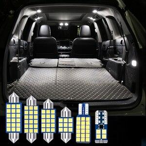 Para mitsubishi galant 2007 2008 2009 2012 5 pçs carro lâmpadas led kit 12v livre de erros lâmpadas de leitura interior tronco luz acessórios