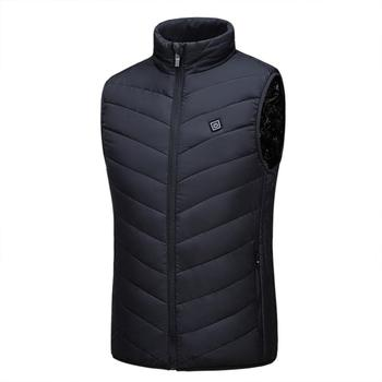 heated jacket Vest USB Men Winter Electrical Heated Sleevless Jacket Travel Outdoor Waistcoat Hiking 2