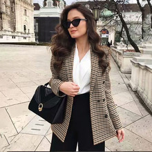 double breasted plaid jacket blazer RK