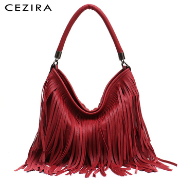 BoHo Fringe Tassel Vegan Leather Bag