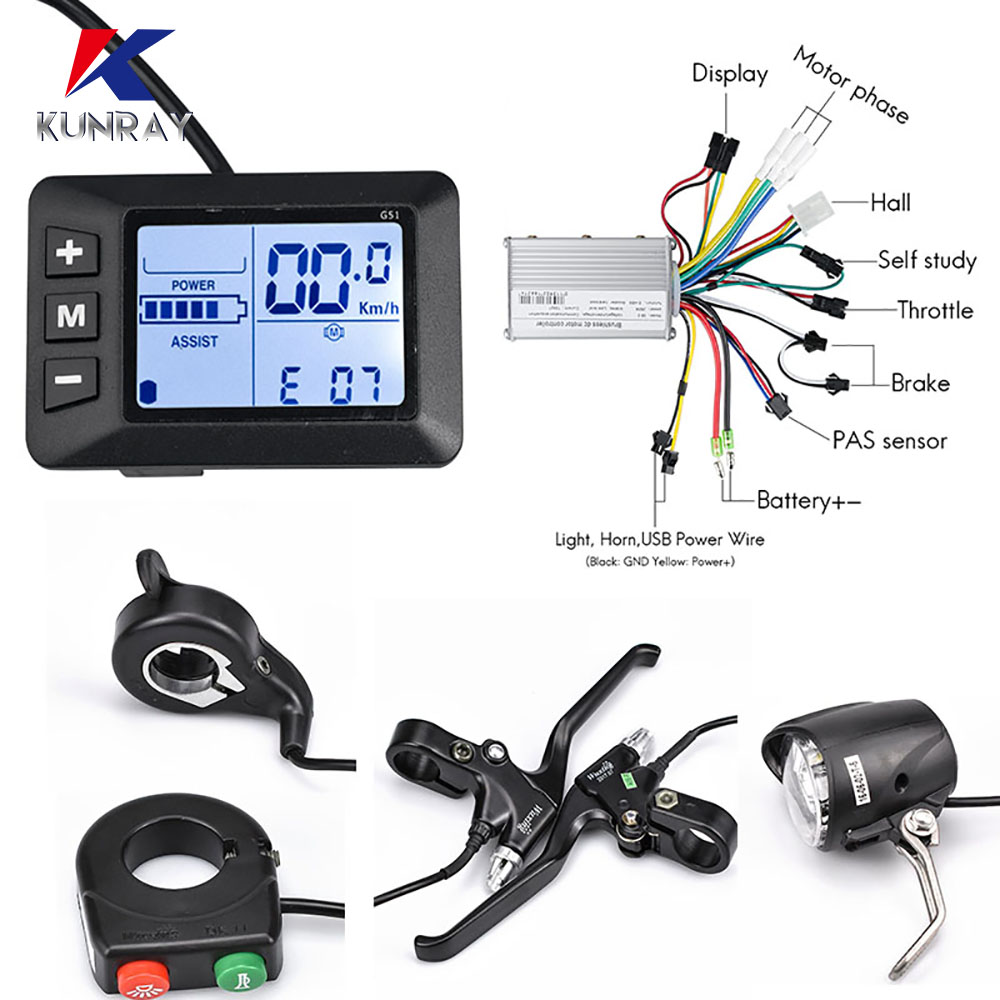 Electric Bike Controller 36V 250W350W Ebike Accessories 24v Controller Electric Scooter Accelerator With cut off power brake