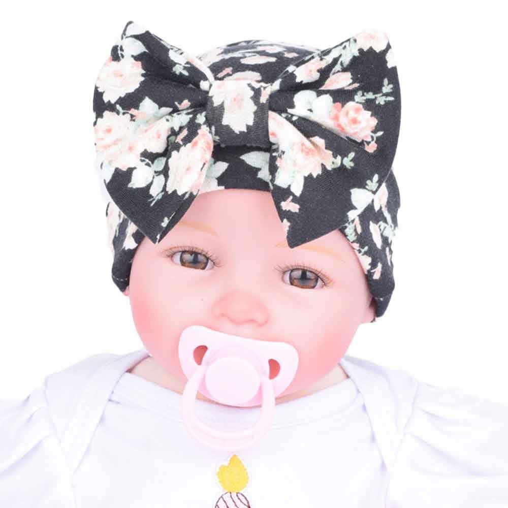 Recién Nacido bebé sombrero flor Bowknot bebé gorra infantil niñas otoño sombreros Hospital gorra suave algodón Niño tejido recién nacido bebé foto Accesorios