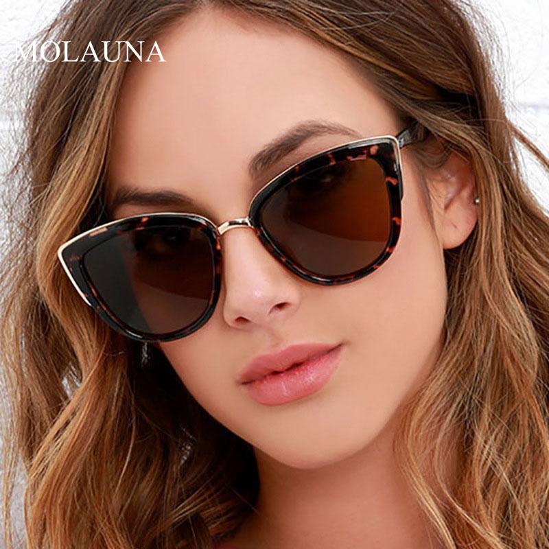 Female Glasses Oculos-De-Sol Retro UV400 Vintage Cateye Design Women