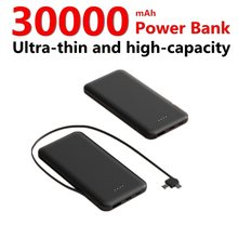 Mini 30000mAh banco de energía de gran capacidad Powerbank externo cargador de batería Digital viene con cable de carga Poverbank(China)