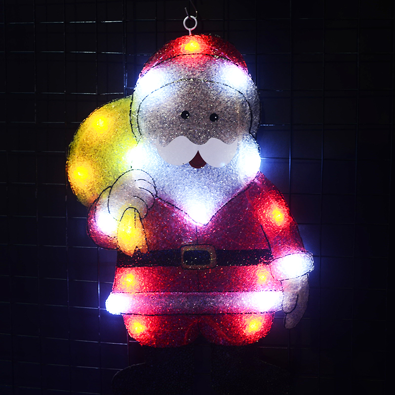 Toprex 2D Christmas Santa Clause Navidad Exterior Led Decoration Xmas Party Lights Christmas Decorations For Home