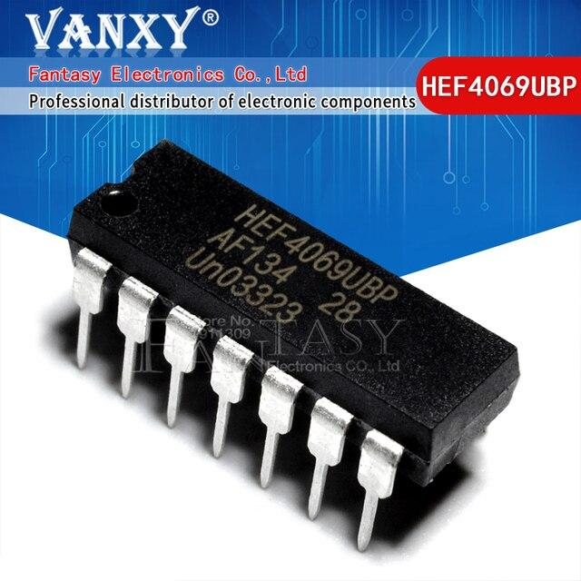 10 Uds. HEF4069UBP DIP HEF4069 DIP14 HEF4069BP DIP 14 nuevo y original IC