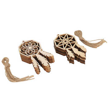 Drewniane ozdoby ręcznie wykonane wiszące ozdoby wiszące drewno dekoracja rzemieślnicza na dekoracja świąteczna i majsterkowanie tanie i dobre opinie TOPINCN CN (pochodzenie)
