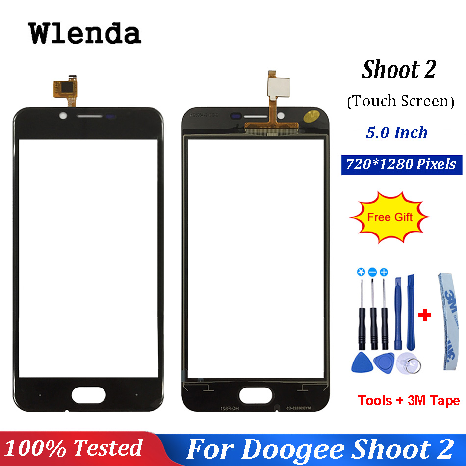 5.0'' inch Touch Screen Glass For DOOGEE Shoot 2 Touchscreen Glass Panel Touch Screen Replacement + Free tools|Mobile Phone Touch Panel| |  - title=