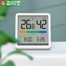 2021 Youpin Miiiw אילם טמפרטורה ולחות שעון בית מקורה דיוק גבוה תינוק חדר C/F צג 3.34 אינץ ענק LCD מסך