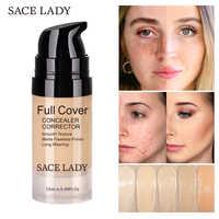SACE LADY Face Concealer Cream Full Cover Makeup Liquid Facial Corrector Waterproof Base Make Up for Eye Dark Circles Cosmetic