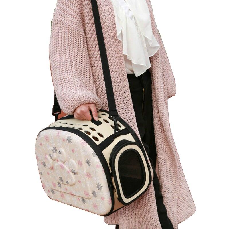 Bolsa de viagem portátil para gatos, bolsa de viagem dobrável para carregar cachorros, com alça de ombro, para animais de estimação, p/m/g