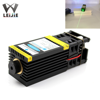 цена на Focusable High Power 520nm 1W 1000mW 12V Fat Beam Bird Repellent Grass green Laser Module with PWM TTL Control with Adapter