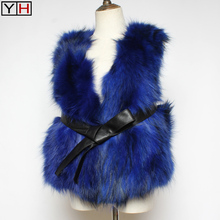 Vest Soft-Fur-Vests Women Raccoon-Fur Spring Natural Fashion Lady Genuine Autumn Short