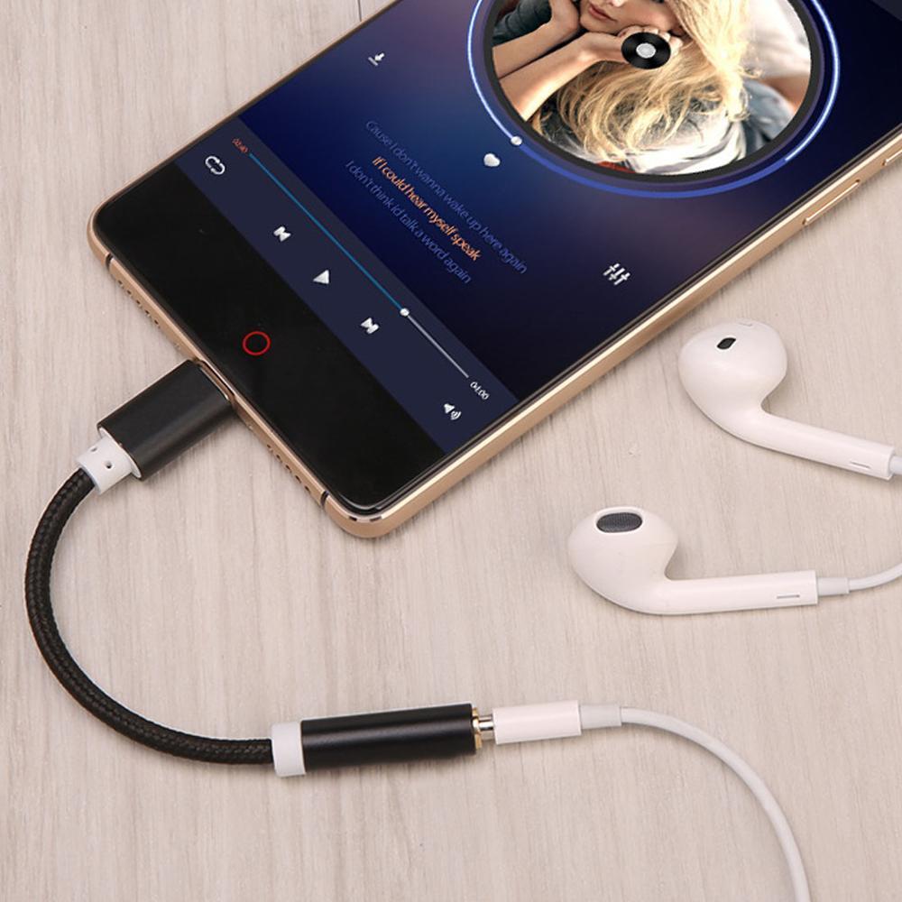 Original Xiaomi Type-C To 3.5mm Earphone Cable Adapter Black Shark MI 8 6 SE A2 MIX 2S USB-C Male To 3.5 AUX Audio Female Jack