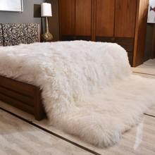 Ковер из натуральной овчины 180*200 см, меховой ковер для домашнего декора, меховой коврик для гостиной, Новая Зеландия, овечий мех, покрывало для кровати, одеяло