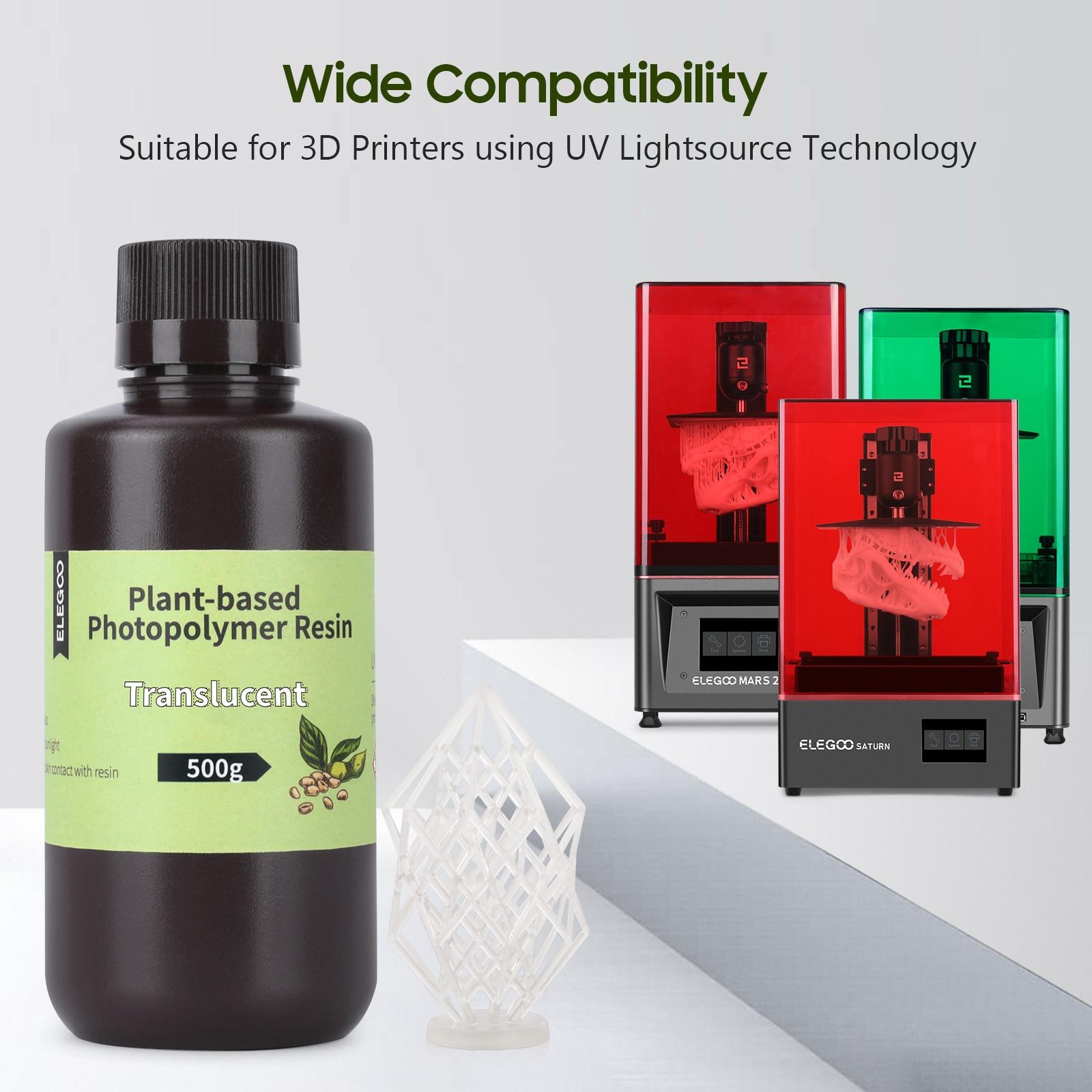 ELEGOO ясно на растительной основе 3D-принтеры смолы 405nm УФ смола для ЖК-дисплей 3D-принтеры доски цвета слоновой кости, Материал светильник запа...