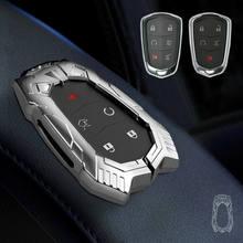 Zinc Alloy Car Key Cover Case for Cadillac Escalade CTS XTS ATS ATS-L XLS SRX 2015 4/5/6 Button 28T CTS-V XT5 CT6 Protect Shell