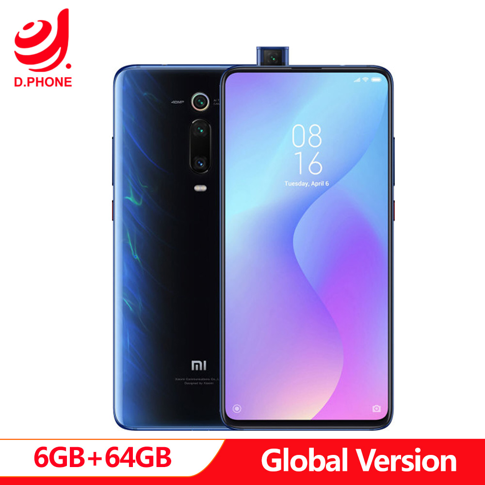 Global Versão Original Xiao mi mi 9 T 9 T 6 GB 64 GB Snapdragon 730 Núcleo octa 6.39'' AMOLED 48MP Câmeras 4000 mAh NFC Smartphones