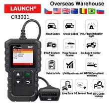 LAUNCH X431 Creader 3001 полный OBDII/EOBD считыватель кодов Сканер многоязычный CR3001 автомобильный диагностический инструмент PK ELM 327 CR319