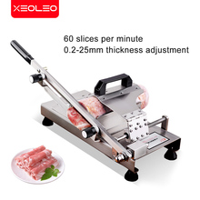 XEOLEO Manual Meat Slicer Meat Cutter Machine Manual Cutting hard medicine machine Commercial Stainless steel Slice medicine
