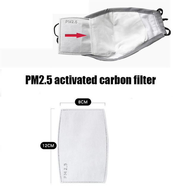 1 PCS Mouth Mask Reusable Mask Washable with 10 PCS PM2.5 activated carbon filter Respirator 5