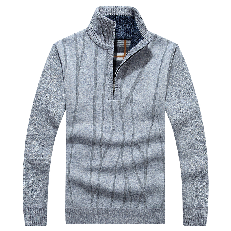 Autumn Winter Men's Sweater Fleece Cotton Turtleneck Pull Homme High Quality Sweater Men Slim Fit Brand Knitted Pullovers;YA526